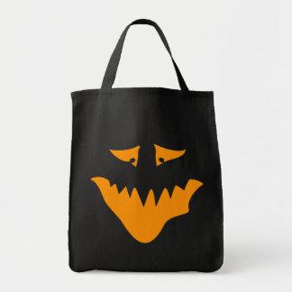 Orange Scary Face Monster Bag