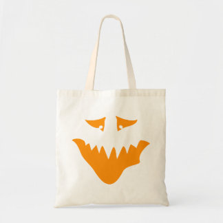 Orange Scary Face Monster Tote Bag