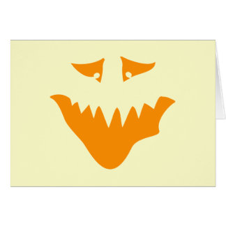 Orange Scary Face. Monster. Card