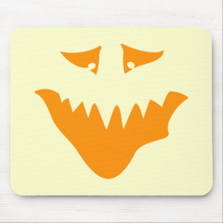 Orange Scary Face. Monster. Mouse Pad