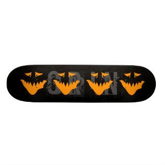Orange Scary Face. Monster. Skateboard Deck