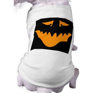 Orange Scary Face. Monster. T-Shirt