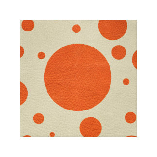 Orange Scattered Spots on Stone Leather print