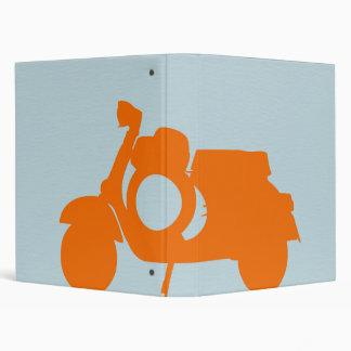 Orange Scooter 3 Ring Binder