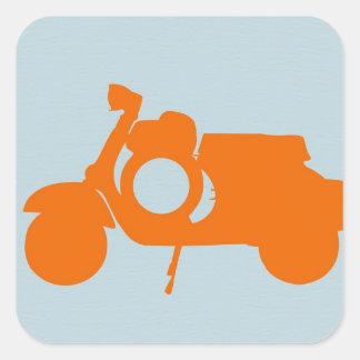 Orange Scooter Sticker