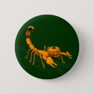 Orange Scorpion Pinback Button