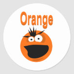 Orange Screamer Classic Round Sticker