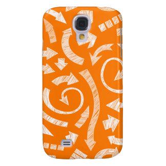 Orange Scribbled arrows  Galaxy S4 Cover