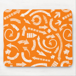 Orange Scribbled arrows mousepad
