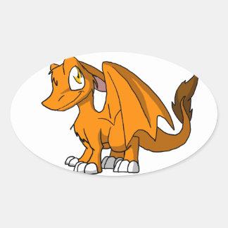 Orange SD Furry Dragon Sticker