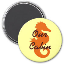 Orange Sea Horse Stateroom Door Marker Magnet