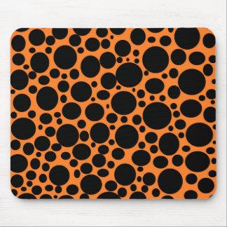 Orange Sea of Black Bubbles Mousepad