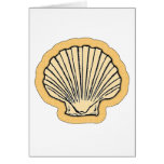 Orange Sea Shell Greeting Card