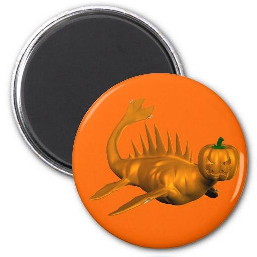 Orange Seadragon 2 Inch Round Magnet