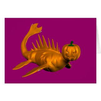Orange Seadragon Card