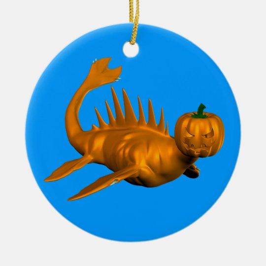 Orange Seadragon Ceramic Ornament