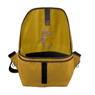 Orange Seahorse Courier Bag