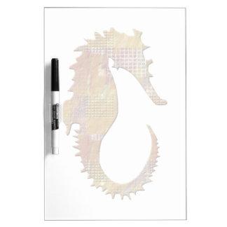 Orange Seahorse Dry Erase Board