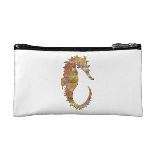 Orange Seahorse Makeup Bag