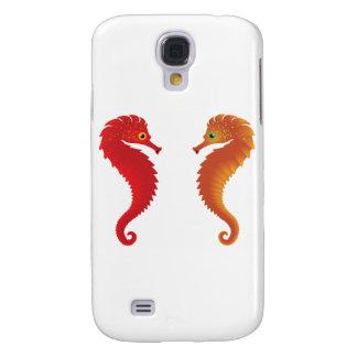 orange seahorses samsung s4 case