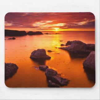 Orange seascape, sunset, California Mouse Pad