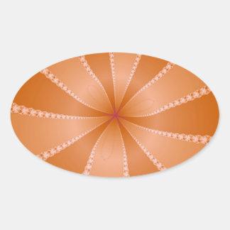 Orange Segments Oval Sticker