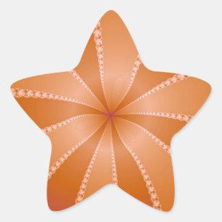Orange Segments Star Sticker