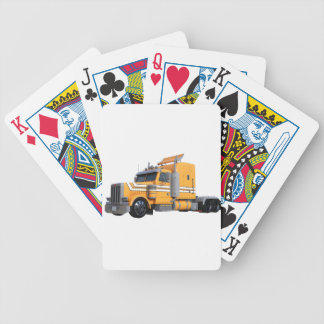 Orange Semi Tractor Trailer Bicycle Playing Cards