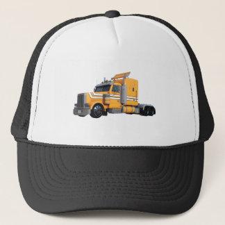 Orange Semi Tractor Trailer Trucker Hat