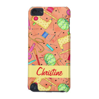 Orange Sewing Notions Art Name Personalized iPod Touch 5G Case
