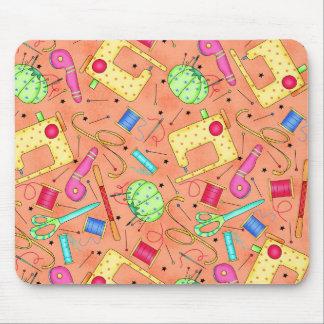 Orange Sewing Notions Mousepad