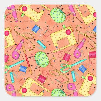 Orange Sewing Notions Sticker
