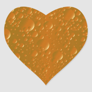 Orange Shade Bibble Background Heart Sticker