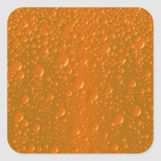 Orange Shade Bibble Background Square Sticker