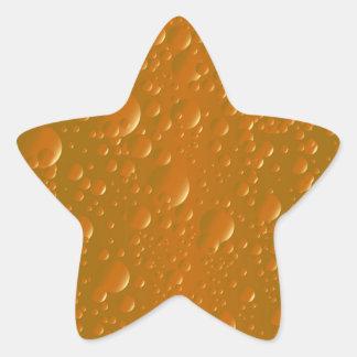 Orange Shade Bibble Background Star Sticker