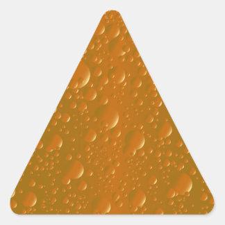 Orange Shade Bibble Background Triangle Sticker
