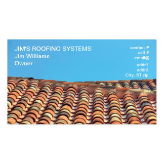 orange shades terracotta tile roof Double-Sided standard business cards (Pack of 100)