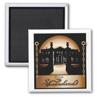 Orange Shadowlands Logo 2 Inch Square Magnet