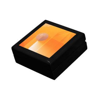 Orange Shadows Abstract Jewelry Box