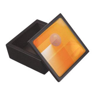 Orange Shadows Abstract Keepsake Box