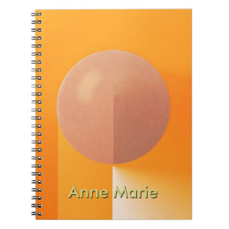 Orange Shadows with Customizable Text Spiral Notebook