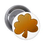 Orange Shamrock Pinback Buttons