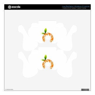 Orange shaped aperture PS3 controller skins