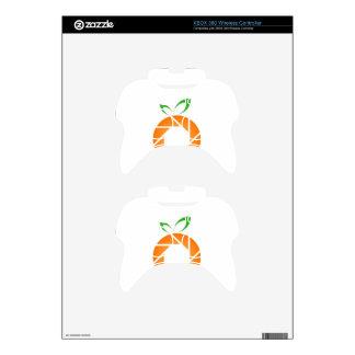 Orange shaped aperture xbox 360 controller skin
