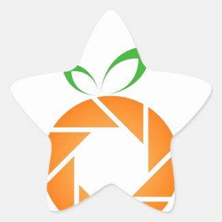 Orange shaped aperture star sticker