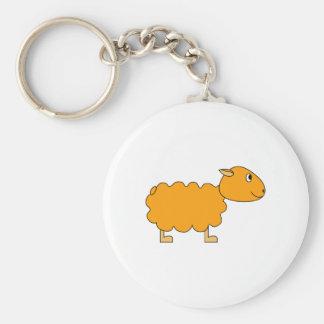 Orange Sheep Keychain