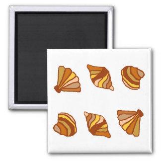 Orange shell row magnet