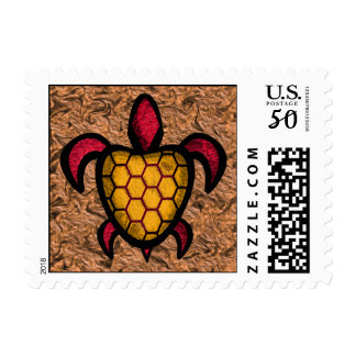 Orange Shell Turtle Postage