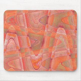 orange sherbert 1 mouse pad