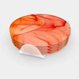 Orange Sherbert Coaster Set